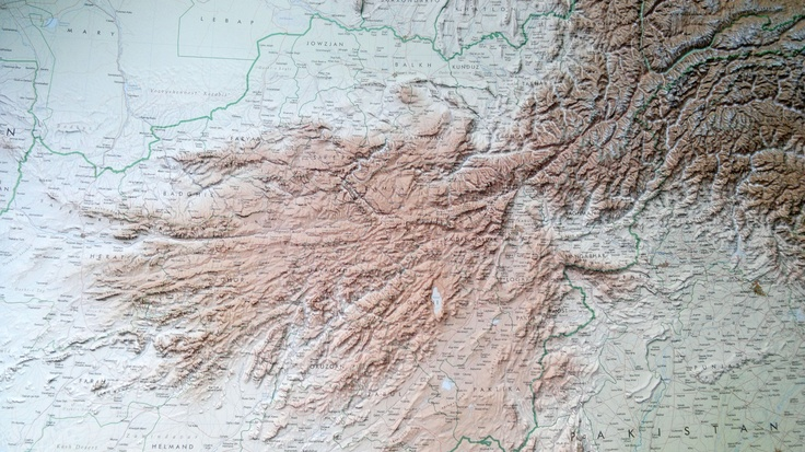 The New Raised Relief Map of Afghanistan, made for a private costumer, is out. It's our first big format raised relief map: 112 x 88 cm size!