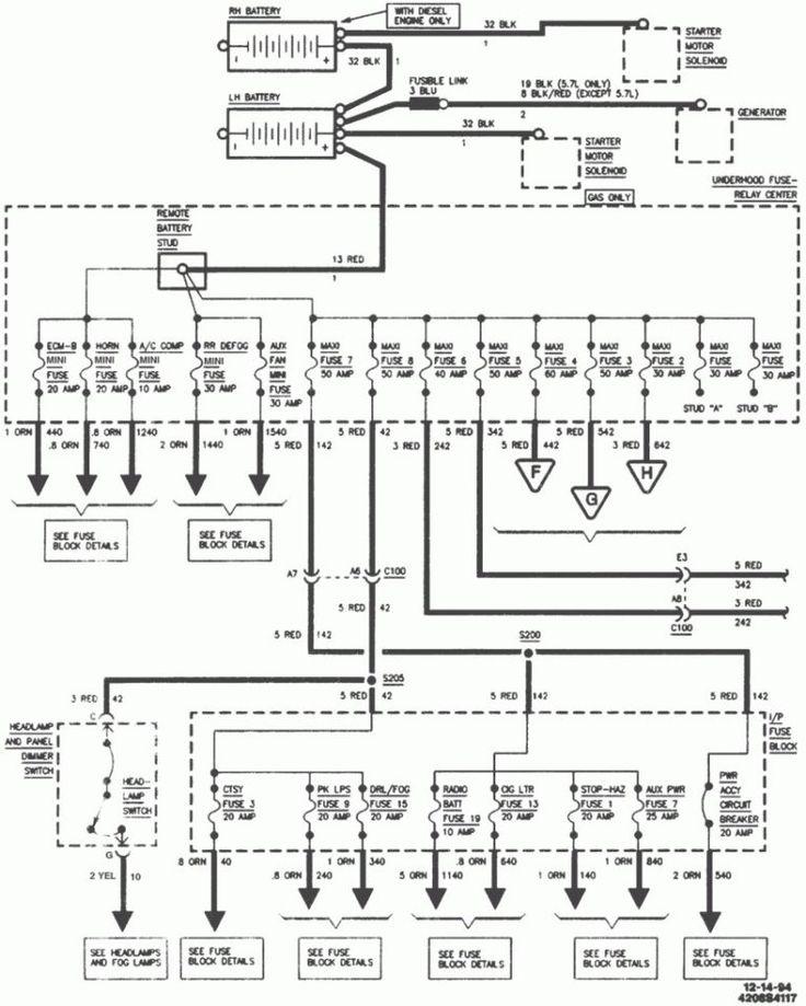 4L60e Wiring Diagram 1995 chevy silverado, Chevy trucks