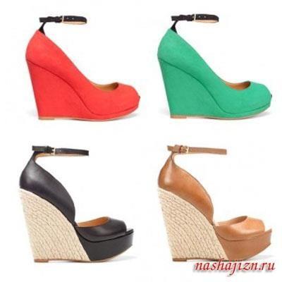 Модная летняя обувь 2012года