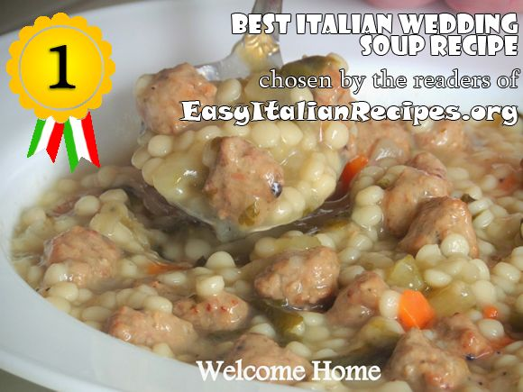 Best Ever Wedding Soup Recipe   Best Italian wedding soup recipe on the net, as voted by the readers ...