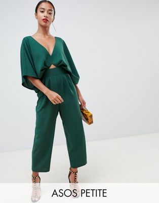 364bc56cb12a DESIGN Petite jumpsuit with kimono sleeve and peg leg in 2019