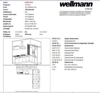 Lovely Einbauk che Wellmann K che Model Alva Wildahorn Ultrawei in Baden W rttemberg Asperg