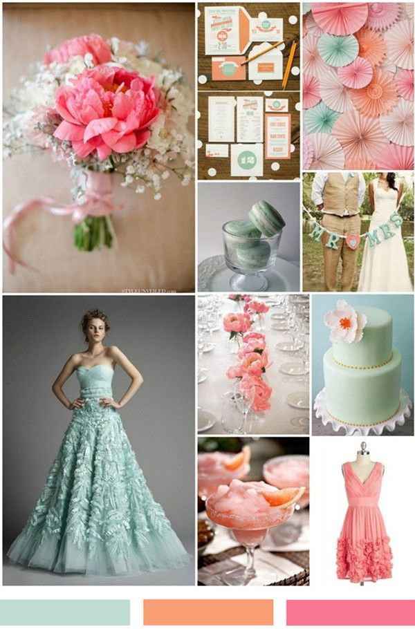 60 Peach And Mint Green Wedding Ideas Wedding Wedding Mint Green Green Wedding