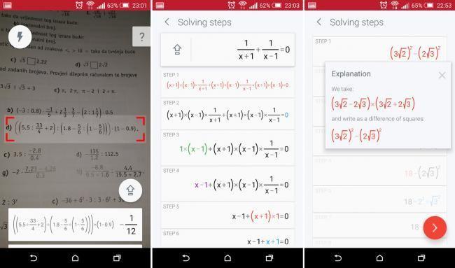 PhotoMath, la popular aplicación para resolver ecuaciones matemáticas con la cámara de tu móvil
