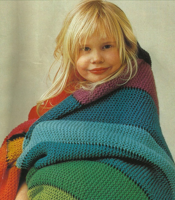 Vintage 70s Pattern PDF Colourful blanket by LadySeventies