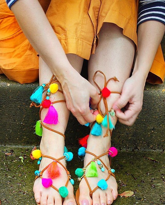 Love these DIY sandals by @bewhatwelove