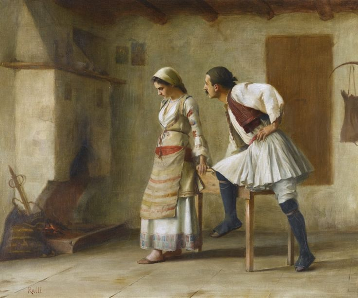 """Flirtation,"" by Greek artist Theodoros Rallis"
