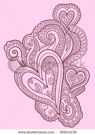 Henna Doodle Heart Design Vector - 35913139 : Shutterstock on imgfave