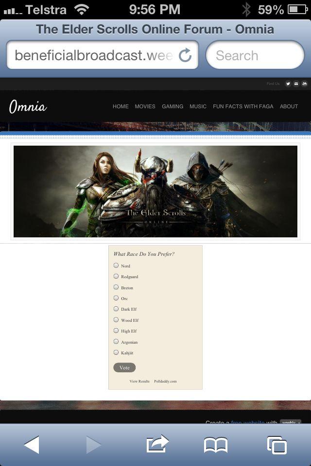 Elder scrolls online !! :)  www.beneficialbroadcast.weebly.com