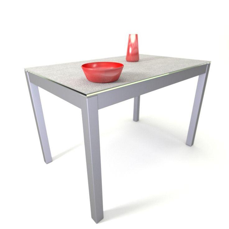 Mesa para cocina con encimera en Techlam y sistema de apertura con patas desplazables