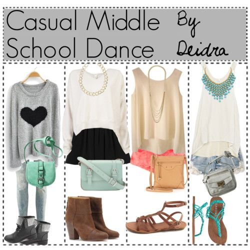 What to wear to a casual middle school dance... I'm going to be glad I pinned this, someday!