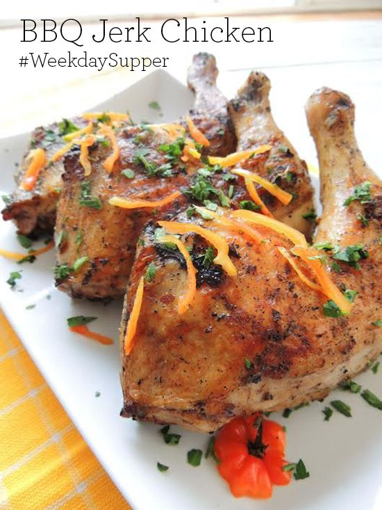 Jerk chicken is spiked with a Jamaican seasoning that includes Scotch bonnet peppers and allspice, among other spices. The seasoning is often used on pork.