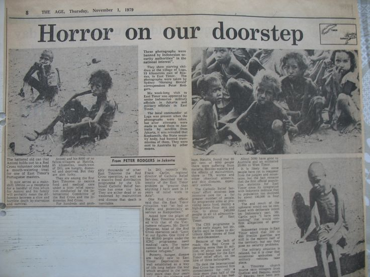 Famine in east Timor, during indonesian occupation, 1979.