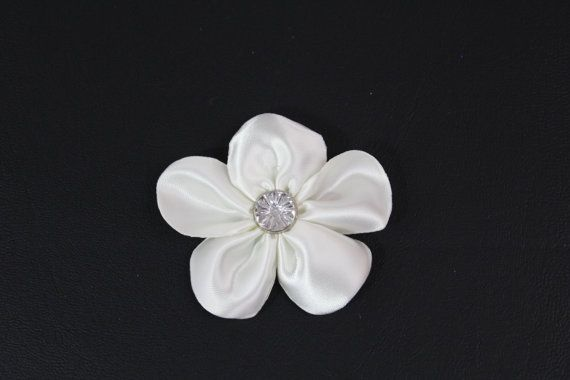Ivory Flower Hair Clip  Ivory Wedding Hair Bow  by SweetestBugBows, $5.00