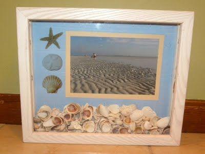 Diy Seashell Shadowbox Could Make This With Sand Rocks