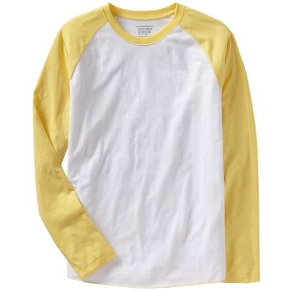 Old Navy Mens Baseball Tees ($7.97) ❤ liked on Polyvore featuring men's fashion, men's clothing, men's shirts, men's t-shirts, mens summer t shirts, mens shirts, mens straight hem shirts, old navy mens t shirts and mens t shirts