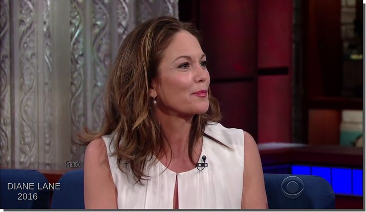 DIANE LANE 2016 The Late Show with Stephen Colbert. 07 octo 2016