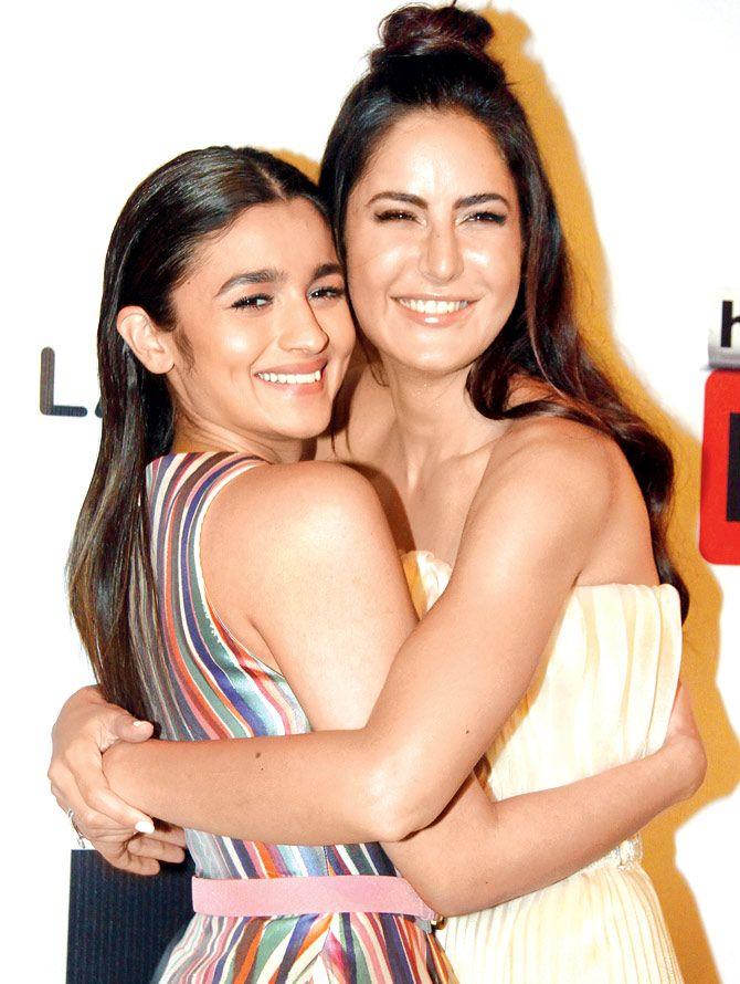 Alia Bhatt and Katrina Kaif at Hindustan Times Most Stylish Awards 2016.