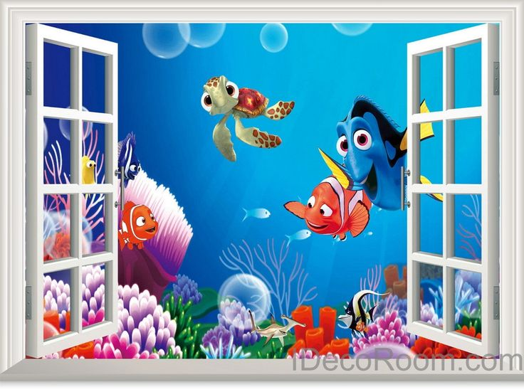 17 best images about disney 39 s finding nemo finding dory for Finding dory wall decals