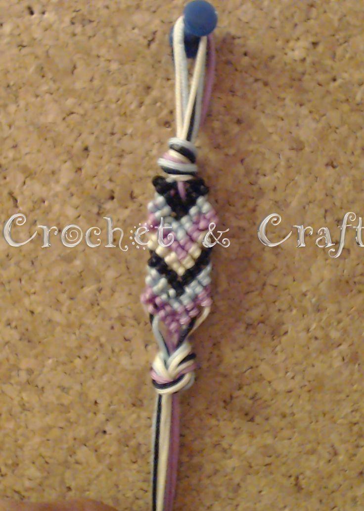 Crochet & Craft: Macrame βραχιολι σχεδιο τοξο για αρχαριους