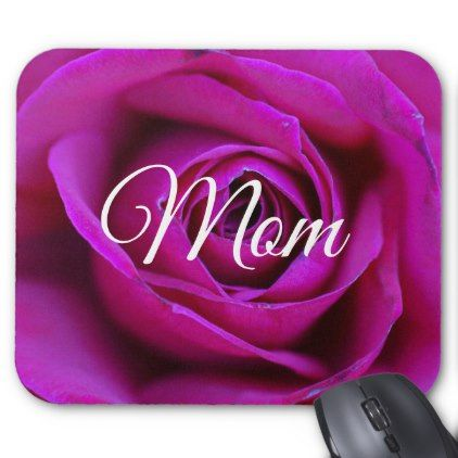 Rose Mom Mousepad - rose style gifts diy customize special roses flowers