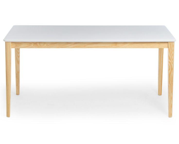 Mesa Janeiro - 160x80 - Off-White com base Natural