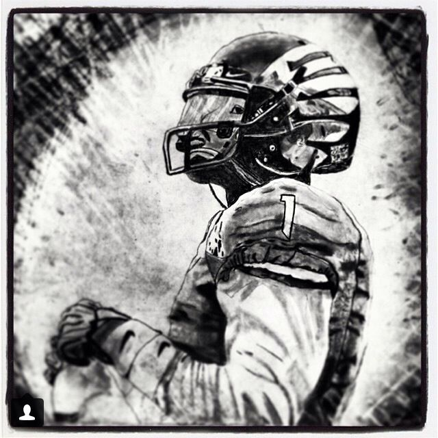 Josh Huff drawing. Oregon ducks football.