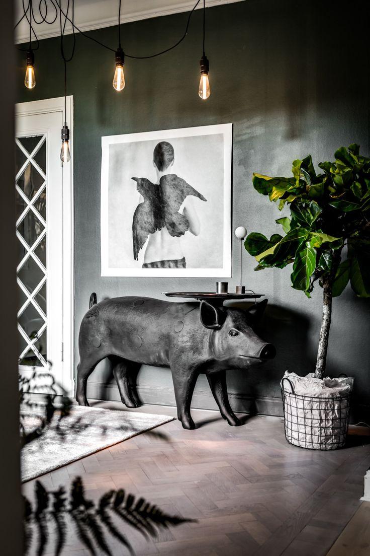grönt kök, gröna väggar, www.hemtrender.se