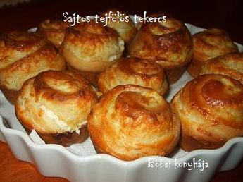 sajtos telfölös tekercs - Böbsi konyhája