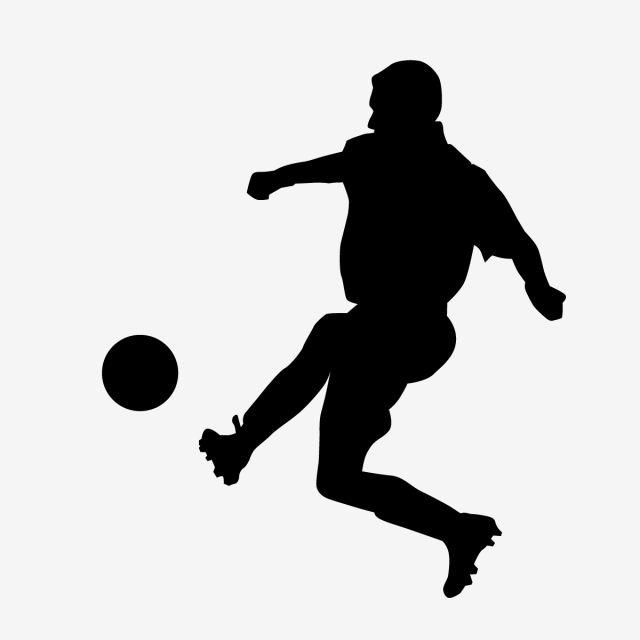 Jugador De Futbol Pateando La Pelota Jugador De Futbol Futbol Vector Gratis Png