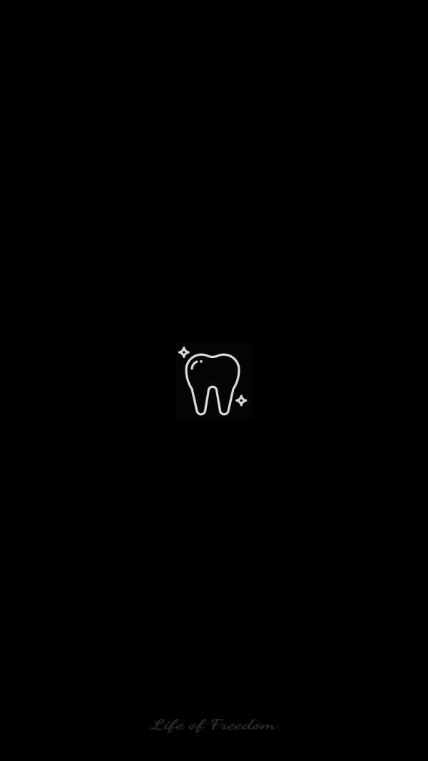 Wallpaper Of Art Outline Icon Of Tooth Design In Dark Black Backgrounds For Mobile Phone Dental Wallpaper Dental Pictures Dental Art