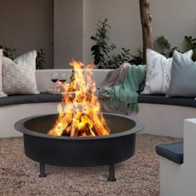 SAVANNAH BLACK FIRE PIT. Get ready for the spring evenings... HOME - BEAUTIFULLY KIND