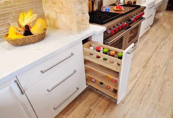 Have your spices right by the sink but hidden when not in use.  Brilliant way to #cuttheclutter #qca