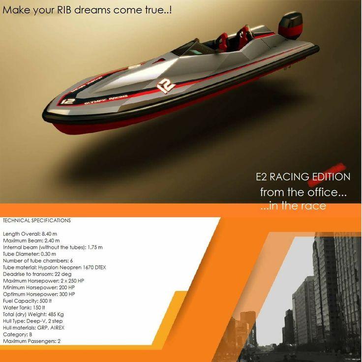 E2 Racing Edition  RIB boats...   Make your RIB dreams come true..!   contact: info@hst.gr www.charismerkatis.com