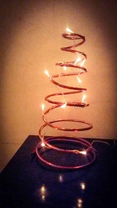 It's  Christmas  time  Albero in tubo di rame ! Handmade!
