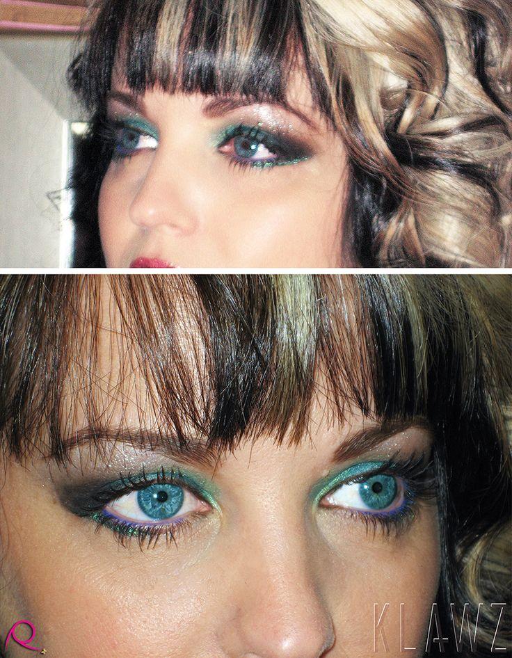 Makeup by KLAWZ - Black/Green Eyeshadow