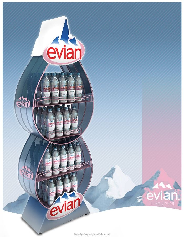 Evian Water Bottle FSU by ibrahim Bozkurt at Coroflot.com
