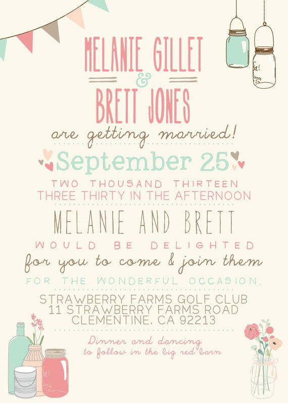Wedding Invitation Suite Set Printable Custom by SplashOfSilver
