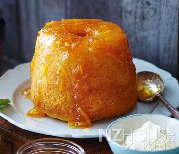 Steamed Orange Pudding with Orange Whisky Sauce