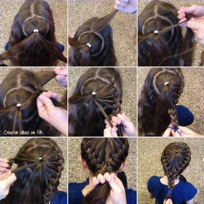 This a neat way to braid long hair
