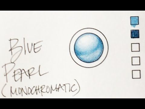 Coloring Tutorial Rendering A Blue Pearl Using Prismacolor Pencils By Jennifer Zimmermann