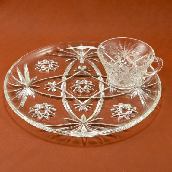 EAPC Star of David 4 Snack Sets Anchor Hocking Glass by charmings, $17.00