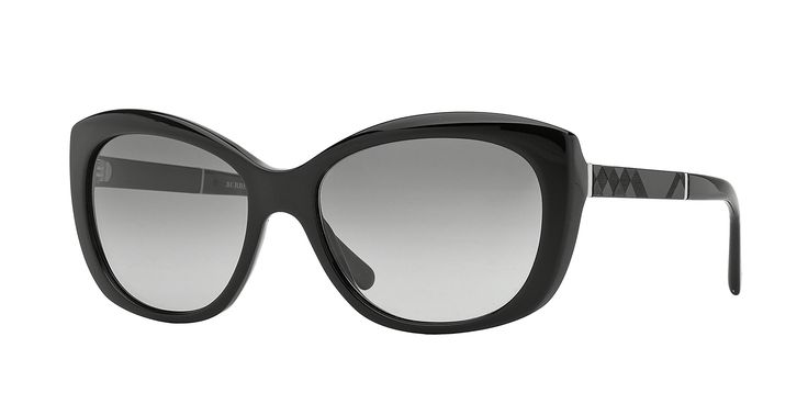 Burberry Sunglasses BE 4164 300111 Black with burberry print 55mm. Authentic Frames.