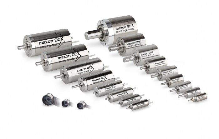 Maxon motor includes new motor size and gearheads into its X drives program