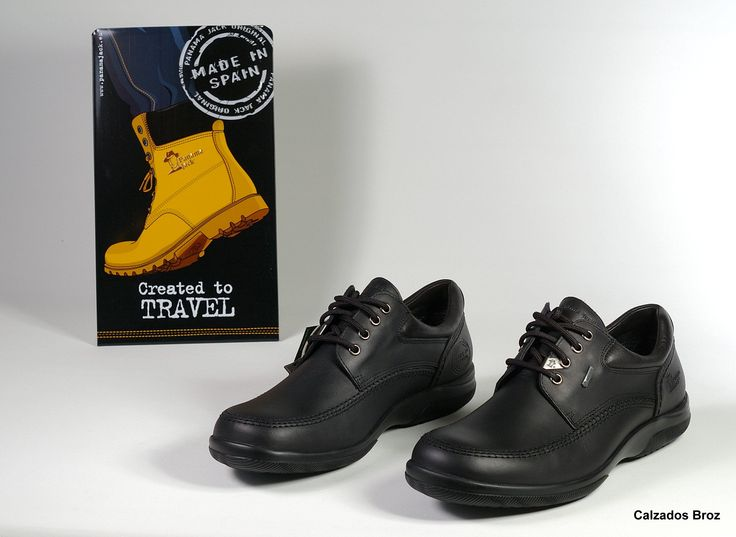 Colección Panama Jack. Zapato de piel con 'Goretex' - Negro. (home).