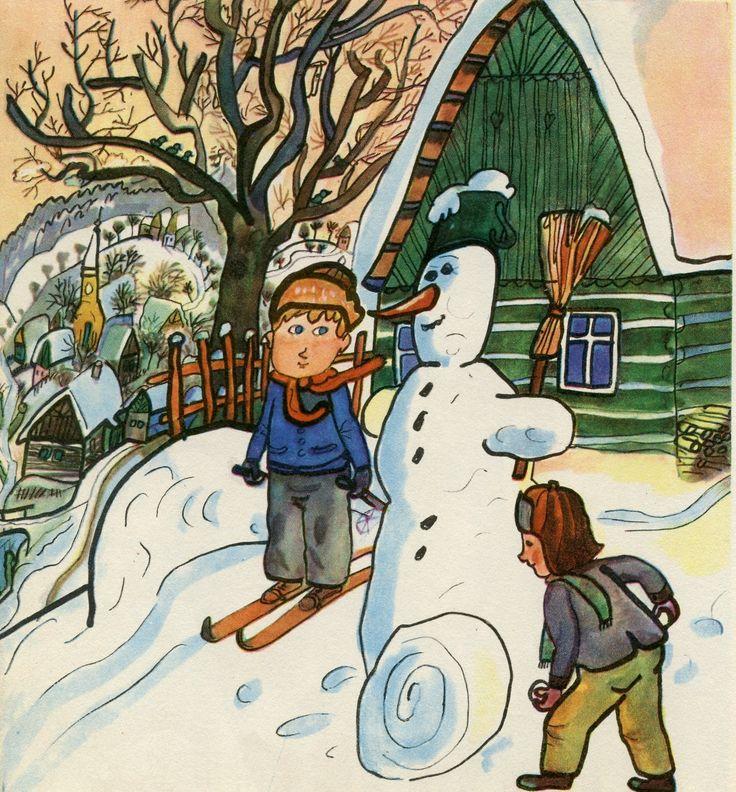 January - building a snowman! Leden – stavíme sněhuláka!