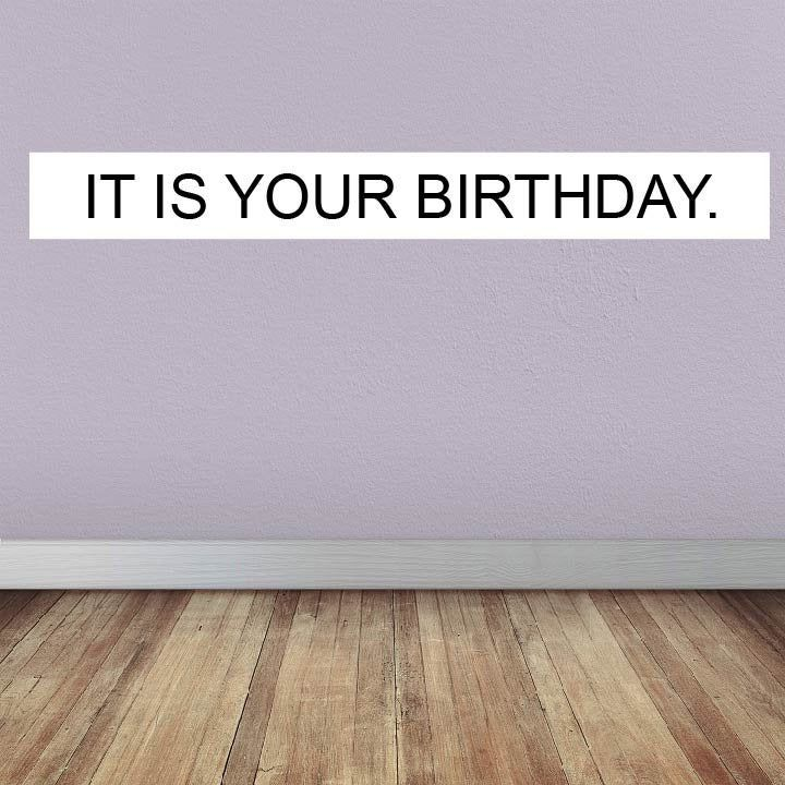 The Office It Is Your Birthday Party Banner Dwight Schrute Heavy Duty 18 Oz Vinyl 1 X4 1 X8 Office Themed Party Birthday Party Banner Office Birthday