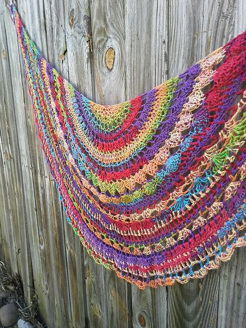 Ravelry: A Little of This a Little of That Shawlette pattern by Teri DiLibero