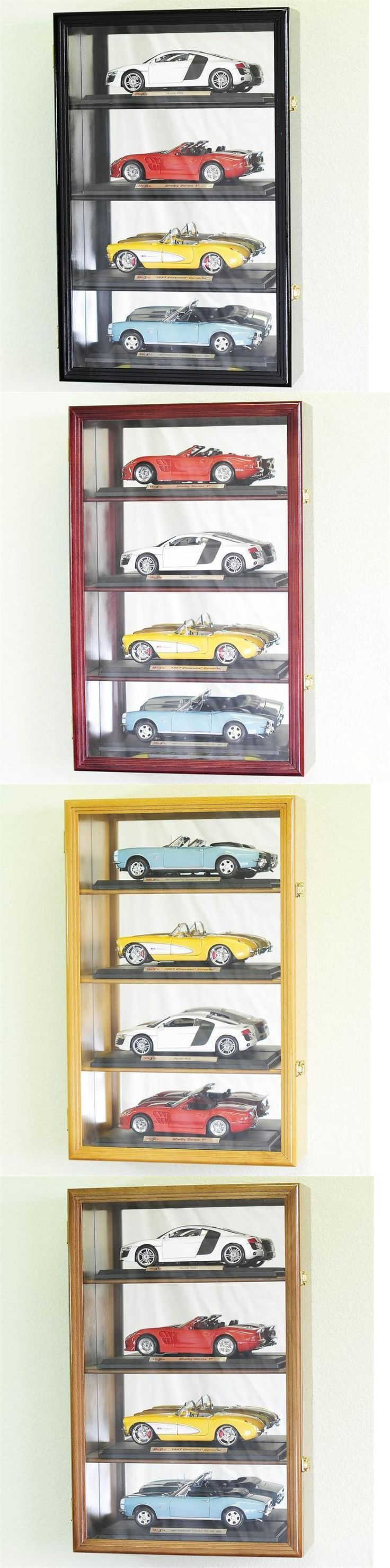 Shadow Boxes 41512: 1:18 Scale Diecast Car Model Display Case Rack Holds 4 * Led Lights * 98% Uv -> BUY IT NOW ONLY: $134.99 on eBay!