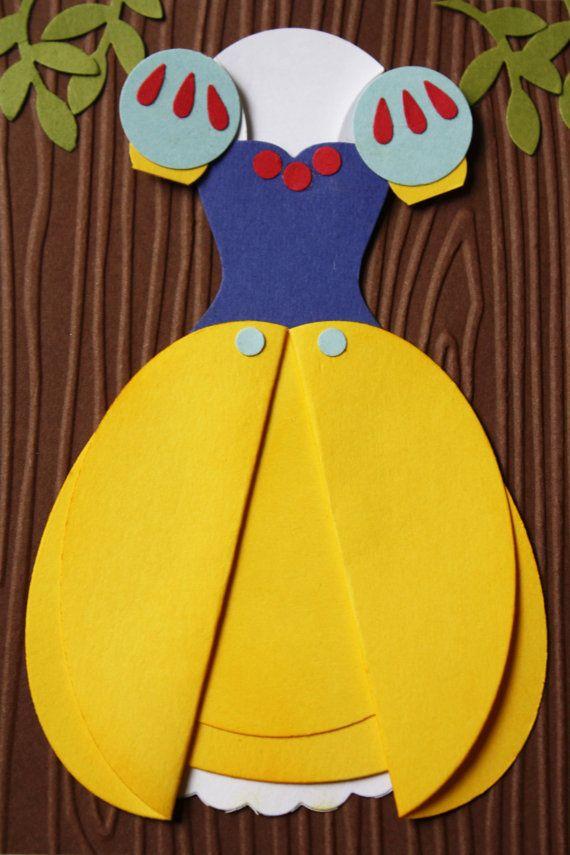 Snow White Princess Party Set Handmade Card & by HootandTootsLoot